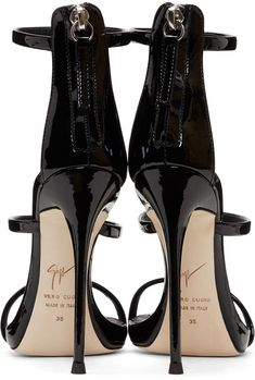 Giuseppe Zanotti - Black Coline Three-Strap Sandals