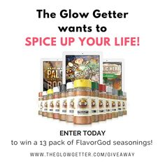 Enter to win THIRTEEN FlavorGod seasonings from The Glow Getter! $99 value. Ends 8/23. #Sweepstakes