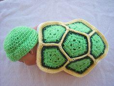 [Free  Pattern] Super Cute Turtle Love Blanket