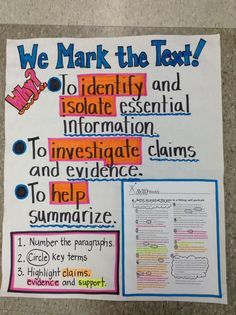 Marking the Text Anchor Chart