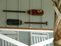 Antique canoe paddles