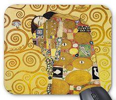 グスタフ・クリムト『 抱擁 』のマウスパッド:フォトパッド(世界の名画シリーズ) (A)