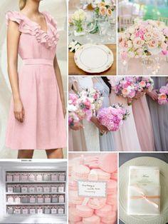 Romantic wedding inspiration board from Weddington Way