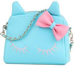 2118c820e44 Amazon.com  Women Bag,New Design Fashion Girls Cute PU Leather Cat Messenger