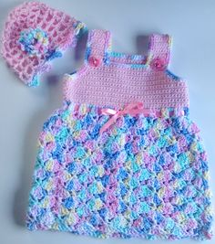 I'm selling Baby's Pink and Multi Sundress with Matching Hat - $35.00 #onselz