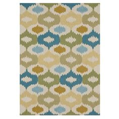 Hand-hooked rug with an abstract motif.   Product: RugConstruction Material: 100% PolyesterColor: Ivor...