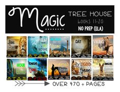 ***Updated to include anchor charts*** **SAVE BIG and purchase the books#11-20 in the Magic Tree House series at once! This BUNDLE is perfect for small groups, centers, homework, morning work, or part of your novel study! This packet is PRINT and GO ready!