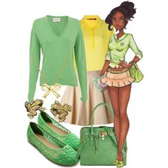 Modern Tiana, created by alittletoulouse on Polyvore