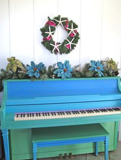 Painted Piano {painted years ago by me}