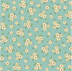 daisies // polka dots // blue background