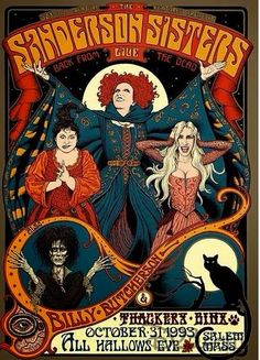 Hocus Pocus/Sanderson Sisters--Four Wolves in the Den