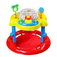Dream On Me Spin Musical Activity Center Red. height adjustment, grows with baby. Contain lights and music. Detachable multi-function carb and turtle toy tray. Toddler Learning, Learning Toys, Learning Centers, Learning Activities, Baby Activity Jumper, Kids Swing, Child Swing, Baby Bouncer, Interactive Toys