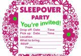 amazing Printable Sleepover Invitations for your inspiration