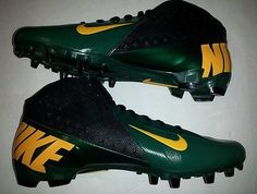 Nike Vapor Pro TD NFL 3/4 Mid Football Cleats Style 543924-012 Green Bay Packers