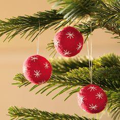 Weihnachtsbaumkugeln filz