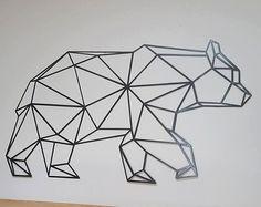 Sticker Mural géométriques ours ours Decor animaux