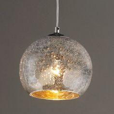Mini Crackled Mercury Bowl Pendant Light - All For Decoration