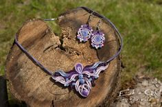Purple color paper quilled eco-friendly earring by EchOchCrafts