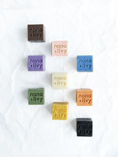 Collect all 9 soap blocks in our Soap Block Collection Gift Set from Nana+Livy Handmade Bath Treats. Orange Essential Oil, Lemon Essential Oils, Cubes, Coffee Soap, Charcoal Soap, Rose Clay, Rice Milk, Milk Soap, Cold Process Soap