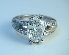 GIA Engagement Ring 2.53ct Oval Diamond Ring 14kt by blueriver47, $12890.00