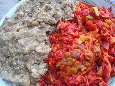 Zacusca de vinete - CAIETUL CU RETETE Romanian Food Traditional, Food Obsession, Salsa, Romanian Recipes, Mexican, Ethnic Recipes, Food Ideas, Essen, Salsa Music