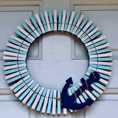 "*SOLD**Whether+you+are+two+steps+to+the+sandy+beaches+or+hundreds+of+miles+away,+you+will+feel+like+you're+coming+home+to+a+beach+house+everyday+with+this+beach+themed+wreath.+The+wreath+is+12""+and+has+an+anchor+on+the+bottom+right+side+with+rope+wrapped+around+it+to+give+off+a+sandy+beaches+look.+Every..."