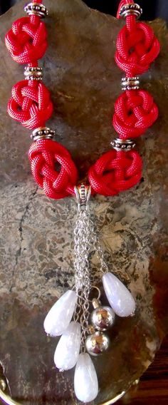 Paracord Knotted Necklaces by PWPersonalCreations on Etsy, $15.00