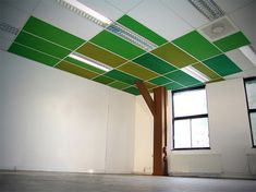 Interesting abstract tree...This is so simple! If you have tiles on the ceiling, paint them in tree tones, if not, just paint the ceiling, and add a simple 2X4 tree to the base! Could use a couple of these around the room.