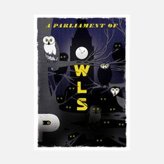 Parliament Of Owls Print, £76, now featured on Fab.