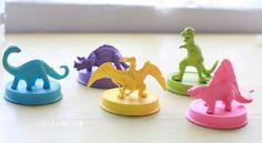 DIY dinosaur jar lids for kids storage   www.lollyjane.com