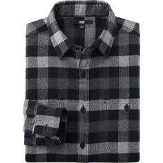 Mens Black Plaid Wool Flannel Button Up Greaser Wear Jacket ...