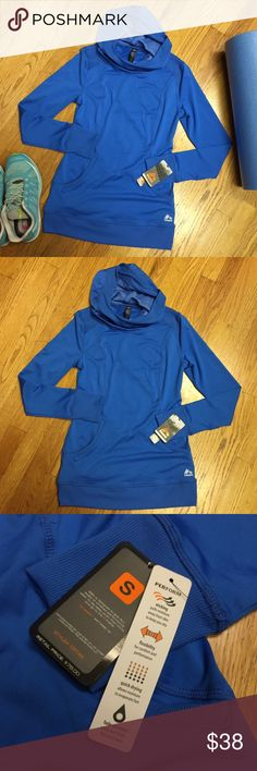 NWT RBX pullover jacket Brand new with tags. RBX royal blue pullover hoodie, size small. Has reflective detail on the back. Moisture wicking, flexible, quick drying, and fade resistant. Style # CR145 RBX Jackets & Coats