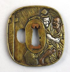A Japanese inlaid patinated bronze Sentoku Tsuba, Meiji period (1862-1912) http://www.auctionatrium.com/index.php?page=view_item
