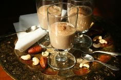 Delicious Caramel Cream - sugarfree and vegan. Glass Of Milk, Sugar Free, Caramel, Vegan, Cream, Drinks, Desserts, Food, Toffee