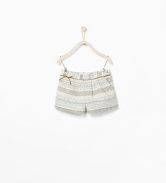 JACQUARD SHORTS WITH RIBBON-Skirts and trousers-Baby girl (3 months - 3 years)-KIDS | ZARA United States