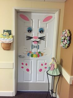 Easter bunny DIY door decoration that I just finished. It was pretty easy!!