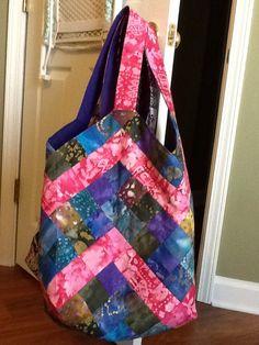 Mondo bag with chevrons