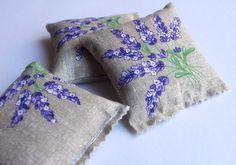 French lavender sachets 3 sachets lavande Provence by chezviolette, €10.00