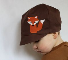 STYLISH HAT  Reversible Fox Hat  Baby Toddler or Child by WeeDees,