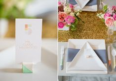 Indie Wed Photo Shoot | Modern geometric wedding decor ideas | photo by Amanda Megan Miller | 100 Layer Cake