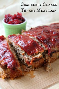 This easy and delicious cranberry glazed Turkey Meatloaf is the perfect Thanksgiving alternative for a small family.