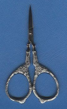 The total length of KelmscottTudor Rose Scissors is 3.75 and are antique in style with roses entwined on the handles - just beautiful.