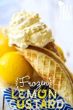 frozen lemon custard from Our Best Bites