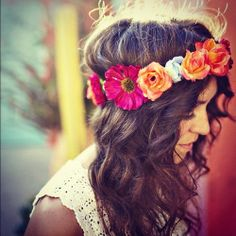 I just really want a floral headwrap