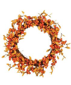 Fall Berry Decorative Wreath | It's time to dress up your house for the coziest season of the year.