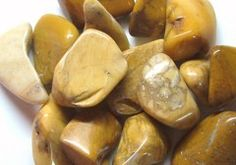 """Yellow Jasper offers protection during spiritual work and physical travel. It channels positive energy. It stimulates the solar plexus chakra.    Healing properties of Jasper  Jasper comes in many colors. All colors of Jasper will help balance the vibrations of the body. Jasper is slow to show a change to the person, but is such a basic """"good"""" stone that one should always have it on hand."""