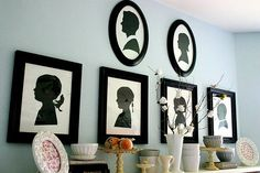 I love black silhouettes on white paper with black frames.  This is Nie Nie of niedialogues family. @nienie