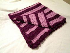 purple crocheted blanket