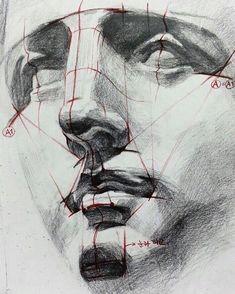 Fabulous Drawing On Creativity Ideas. Captivating Drawing On Creativity Ideas. Drawing Heads, Life Drawing, Figure Drawing, Painting & Drawing, Drawing Faces, Portrait Sketches, Portrait Art, Art Sketches, Art Drawings
