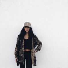 The Camo Jacket Is Basically the Only Piece You Need This Fall Camo Jacket Trend for Fall: How to Wear One and the Best Styles… Cute Comfy Outfits, Casual Outfits, Fashion Outfits, Womens Fashion, Baddie Outfits Party, Camo Fashion, Pastel Outfit, Gina Lorena, Looks Hip Hop
